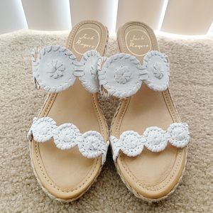 Jack Rogers Lucille Espadrille White Sandals